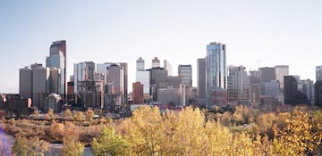 The Skyline of Calgary, Alberta